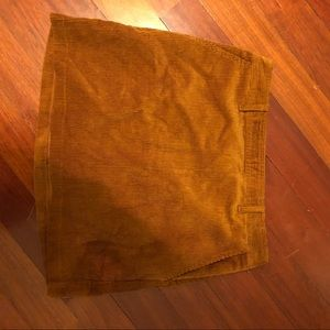 Corduroy, camel colored skirt